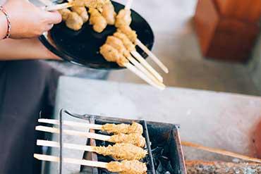 Balinese Minced Pork Satays